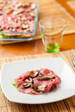Appetizer raw meat stock photography
