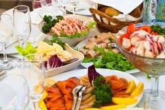 Appetizer ready for dinner in restaurant stock photos