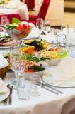 Appetizer ready for dinner in restaurant stock photo