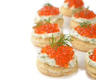 Appetizer with red caviar Royalty Free Stock Photography