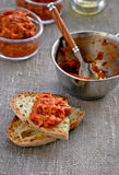 Appetizer, Red Pepper Relish. Close-up. Stock Photos