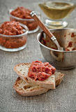 Appetizer, Red Pepper Relish. Close-up. Royalty Free Stock Photos