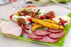Appetizer restaurant plate Royalty Free Stock Photos