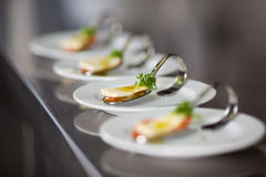 Appetizer in a row Royalty Free Stock Photos