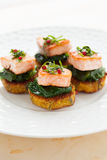 Appetizer with salmon Royalty Free Stock Images