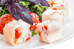 Appetizer with seafood Royalty Free Stock Image