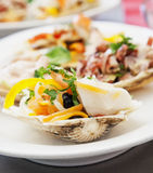 Appetizer with seafood Stock Photography