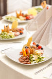 Appetizer served on a plate Royalty Free Stock Photography