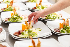 Appetizer served on a plate Stock Photography
