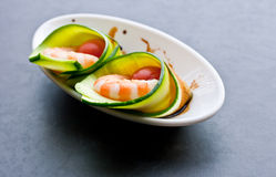 Appetizer of shrimp Royalty Free Stock Images