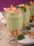Appetizer, shrimp and avocado Stock Photography