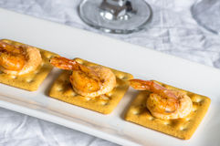 Appetizer with shrimp and caviar Royalty Free Stock Images