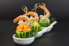 Appetizer with shrimp Stock Photography