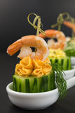 Appetizer with shrimp Royalty Free Stock Photo