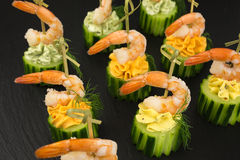 Appetizer with shrimp Stock Image