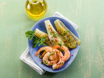 Appetizer with shrimp and grilled Stock Images