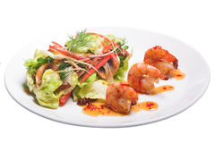Appetizer with shrimps Royalty Free Stock Image