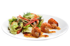 Appetizer with shrimps Royalty Free Stock Images