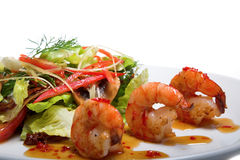 Appetizer with shrimps Stock Photo