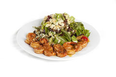 Appetizer with shrimps isolated Stock Photography