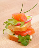 Appetizer of Smoked Salmon Royalty Free Stock Photography