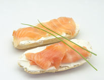 Appetizer of smoked salmon Stock Photo