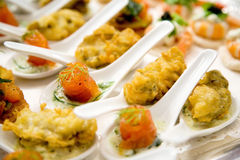 Appetizer on the spoon Royalty Free Stock Image
