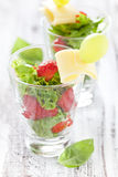 Appetizer with strawberries Royalty Free Stock Photo