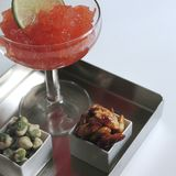 Appetizer with strawberry margarita stock photos