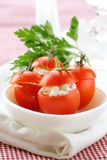 Appetizer of stuffed tomatoes Royalty Free Stock Photography