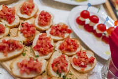 Appetizer on the table Stock Photos