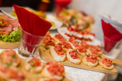 Appetizer on the table Stock Photography