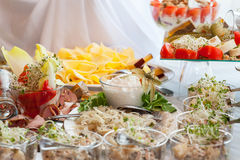 Appetizer table Stock Photography