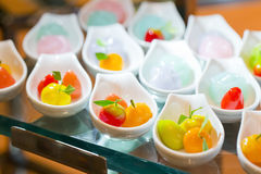 Appetizer of thai dessert on buffet line Royalty Free Stock Image