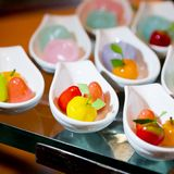 Appetizer of thai dessert on buffet line Royalty Free Stock Photography