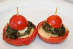 Appetizer of tomato royalty free stock photography
