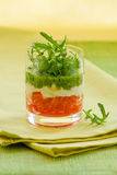 Appetizer with tomato,cheese and pesto Stock Images