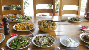 Appetizer of turkish cuisine stock footage