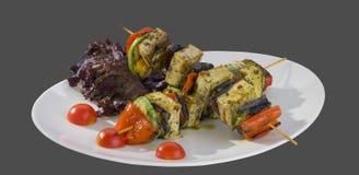 Appetizer vegetable skewers Royalty Free Stock Photo