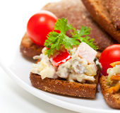 Appetizer with vegetables Royalty Free Stock Photos