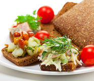 Appetizer with vegetables Stock Photography