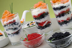 Appetizer, verrine and spoon Royalty Free Stock Image