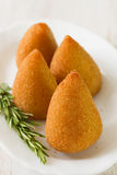 Appetizer on white plate Royalty Free Stock Image