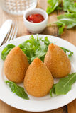 Appetizer on white plate Stock Photography