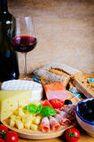 Appetizer and wine Royalty Free Stock Image