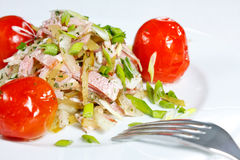Appetizer With Bacon, Pickles And Tomatoes Royalty Free Stock Photo