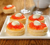 Appetizer With Red Caviar Royalty Free Stock Photos
