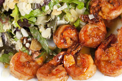Appetizer with yummy shrimps Stock Photography