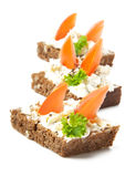 Appetizers. With tomatoes and cream cheese Royalty Free Stock Photos