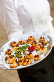 Appetizers being served Royalty Free Stock Photos